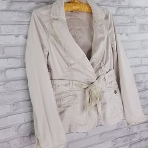 Cream WHBM Jacket Size 6